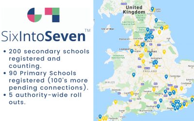 Schools across the UK are taking part in SixIntoSeven